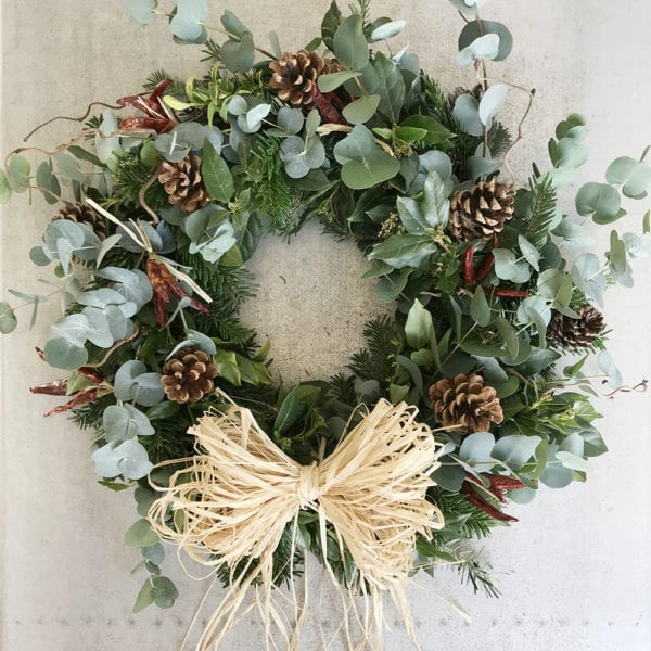 Rustic Christmas Wreath Regency Flowers Leamington