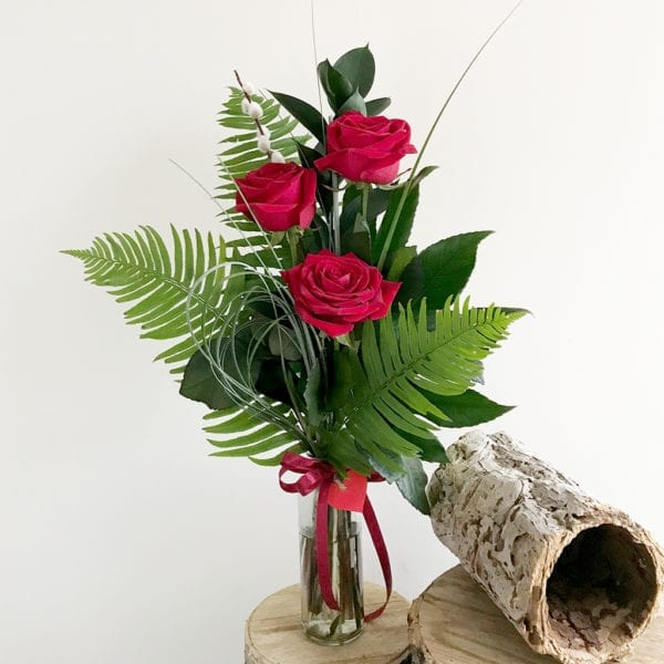 Rose Trio Vase
