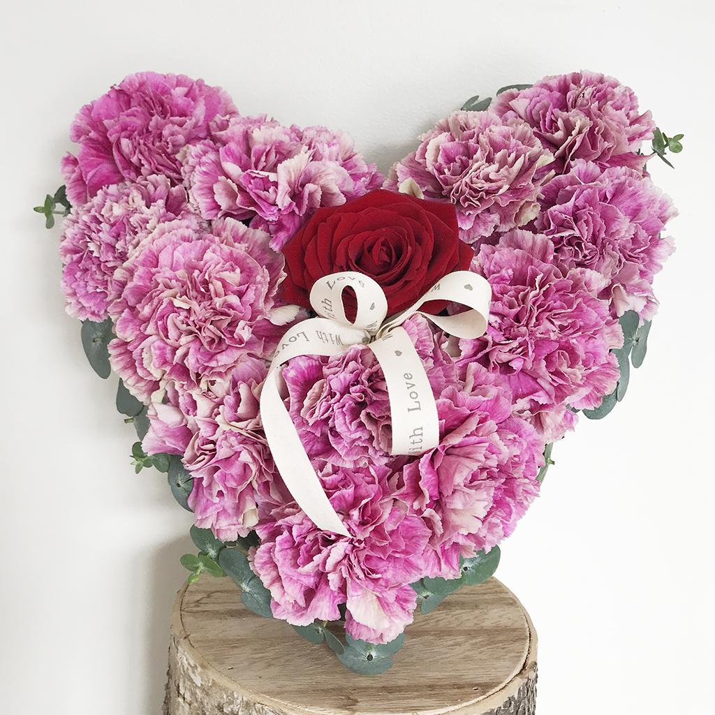 Valentines Carnation Heart