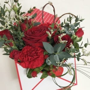 Valentines Love Letter Flowers