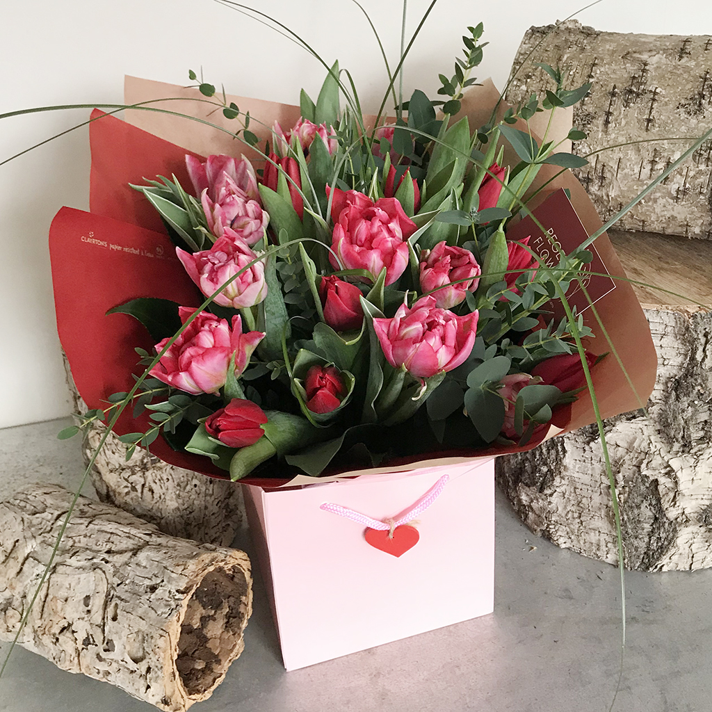 Valentines Tulip Bouquet