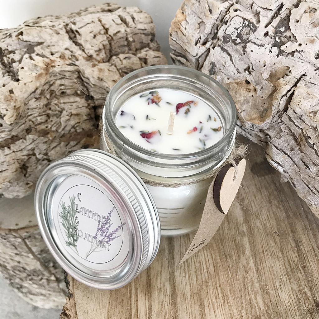Lavender Candle Jar